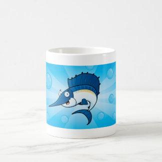 Caneca dos peixes dos desenhos animados