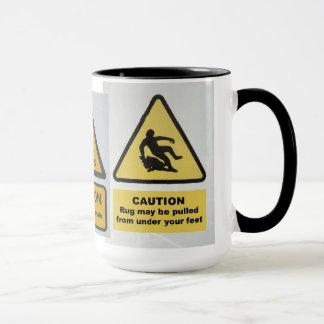 Caneca dos sinais de aviso