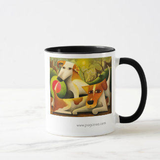 Caneca dos terrier de Jack Russell