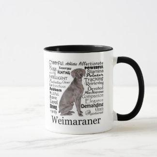 Caneca dos traços de Weimaraner