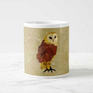 Caneca dourada da coruja do rubi jumbo mug