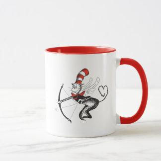 Caneca Dr. Seuss Namorados | o gato no Cupido do chapéu