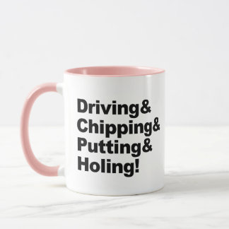 Caneca Driving&Chipping&Putting&Holing (preto)