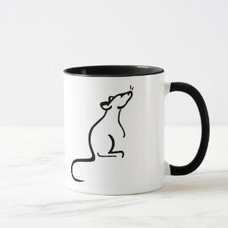 Caneca É logotipo do mundo de um rato