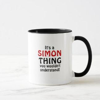 Caneca É uma coisa que de Simon você não compreenderia!