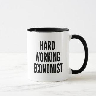 Caneca Economista de trabalho duro