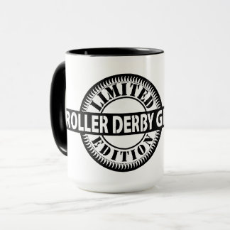Caneca Edição limitada da menina de Derby do rolo, design