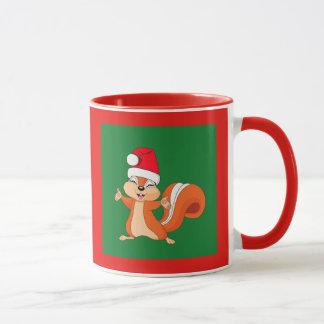 Caneca Efervescente o esquilo brincalhão no Natal