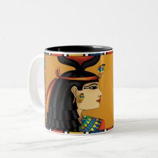 Caneca egípcia de Hathor da deusa