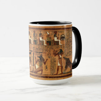 Caneca egípcia dos Royals do papiro