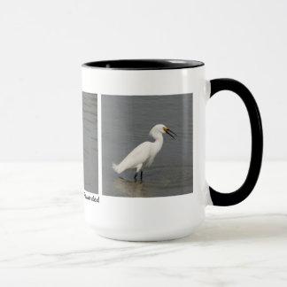 Caneca Egret nevado