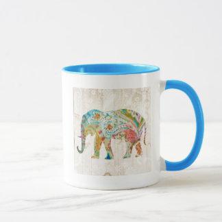 Caneca Elefante de Boho Paisley II