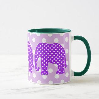 Purple and White Polka Dots Elephant