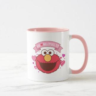 Caneca Elmo | meu coração pertence a Elmo