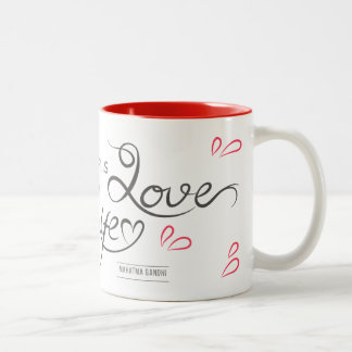 Caneca em dois tons Where there is Love