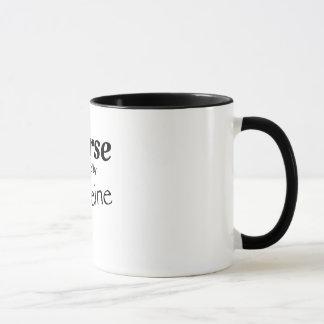 Caneca Enfermeira psta pela cafeína