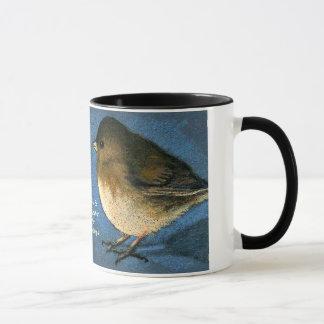 Caneca Enfrentar de dois pássaros: Café, conversação,