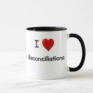 Caneca engraçada da contabilidade - reconciliações