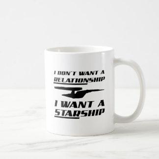 Caneca engraçada de Starship da relação