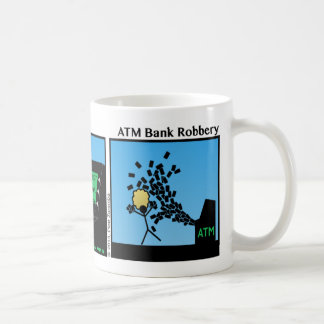 Caneca engraçada de Stickman do roubo a um banco