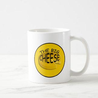 Caneca engraçada do chefe do queijo de Bigs