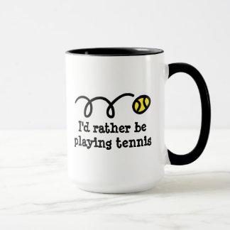 Caneca engraçada para o jogador de ténis