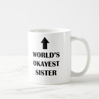 Caneca engraçada personalizada do presente da irmã
