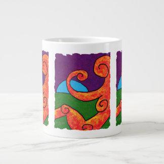 Caneca enorme do abstrato 1-6-10 jumbo mug