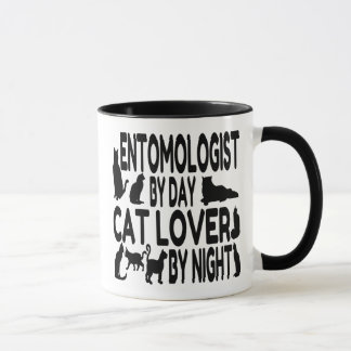 Caneca Entomologista do amante do gato