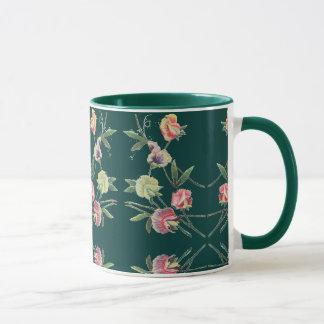 Caneca Ervilha doce do design floral