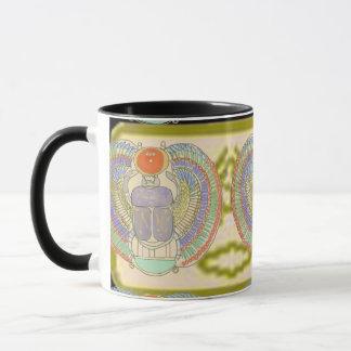 Caneca Escaravelho egípcio com Cartouche de Kephri