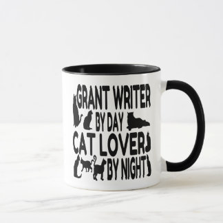 Caneca Escritor de Grant do amante do gato