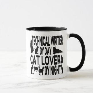 Caneca Escritor técnico do amante do gato