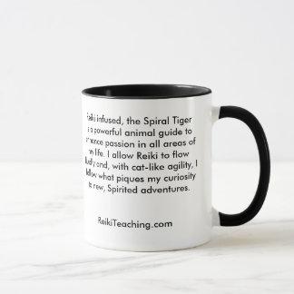 Caneca espiral de Reiki do tigre