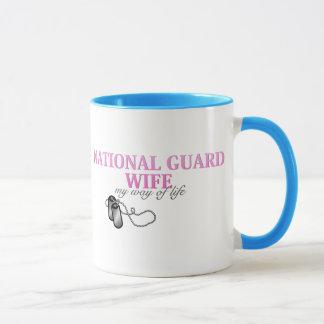 Caneca Esposa da guarda nacional, meu modo de vida