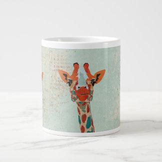 Caneca espreitando ambarina do girafa canecas de café muito grande
