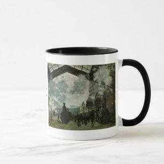 Caneca Estação de Lazare do santo por Claude Monet