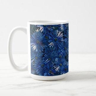 Caneca estilizado azul profunda do chá/café das