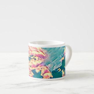 Caneca estilizado do café do céu de turquesa