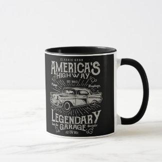 Caneca Estrada do carro | Hotrod americano clássico do