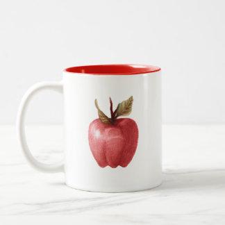 caneca estranha de tiragem da maçã