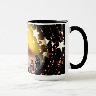 Caneca Estrelas infantis de Jesus da Virgem Maria da ucha