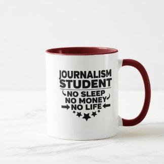 Caneca Estudante do jornalismo nenhum sono nenhum
