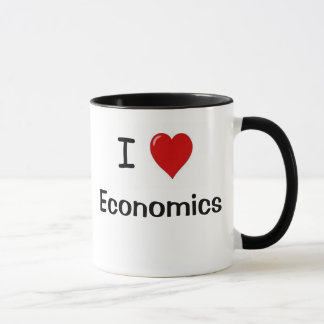 Caneca Eu amo a economia da economia amo-me
