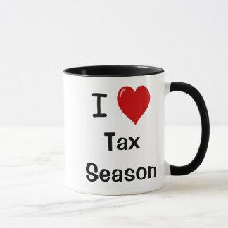 Caneca Eu amo a estação do imposto - estação do imposto