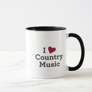 Caneca Eu amo a música country
