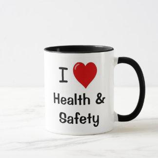 Caneca Eu amo a saúde e a segurança mim saúde e segurança