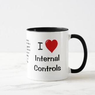 Caneca Eu amo controles internos - triplicar-se tomou