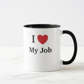 Caneca Eu amo (coração) meu trabalho - razões engraçadas