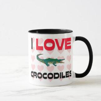 Caneca Eu amo crocodilos